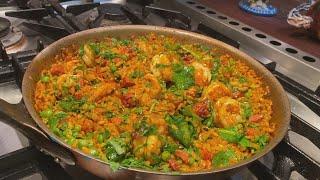 How To Make Shrimp And Chorizo Paella | #StayHome With Rachael