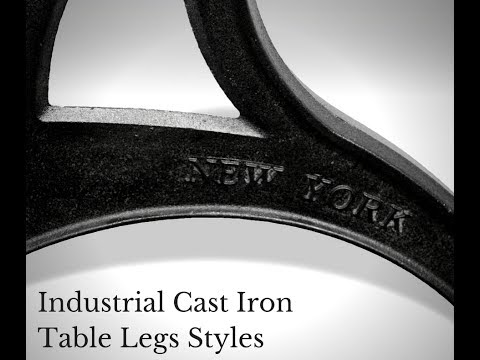 Industrial Cast Iron Table Legs Styles   YouTube