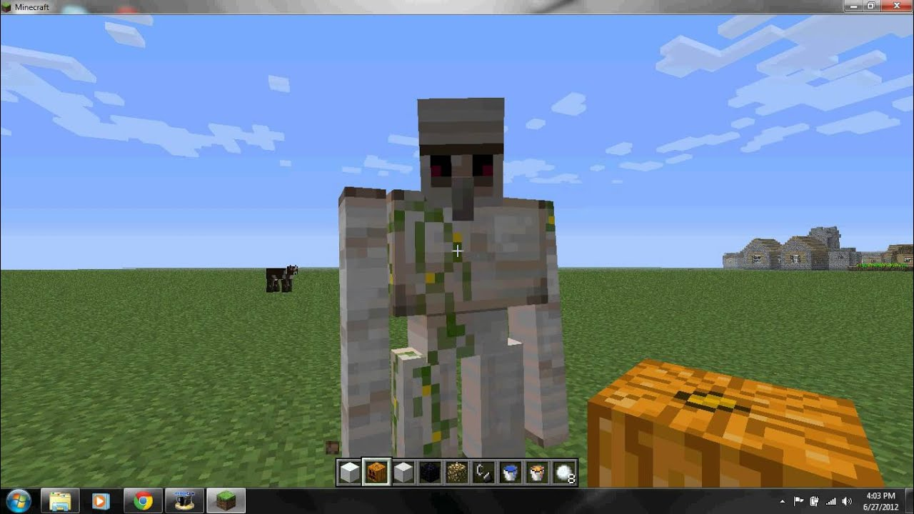 how to create a iron golem