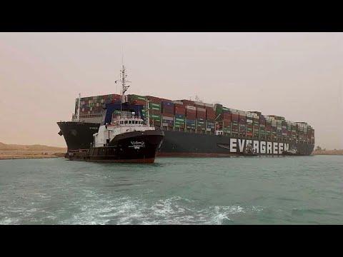 Massive cargo ship turns sideways, blocks Egypt's Suez Canal