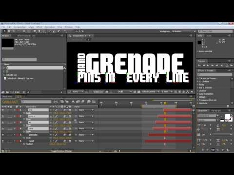Tutorial Video Lyrics (Adobe After Effects)