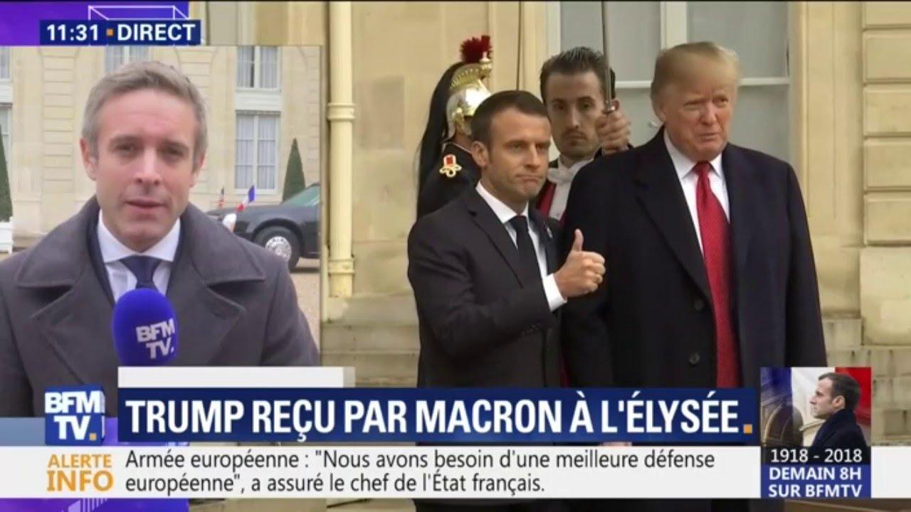 Ce qu'il faut retenir de la rencontre entre Macron et Trump à l'Elysée