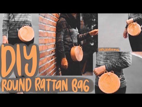 DIY ROUND RATTAN BAG  | TAS DARI KERTAS?