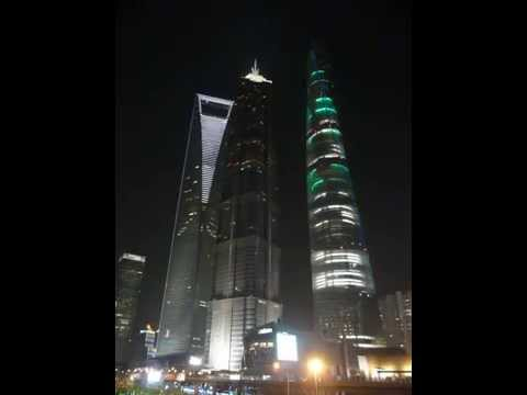 World's biggest Christmas ornaments, Shanghai Tower and Shanghai World Financial Center