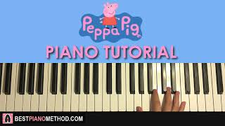 HOW TO PLAY Peppa Pig Theme Song Piano Tutorial Lesson