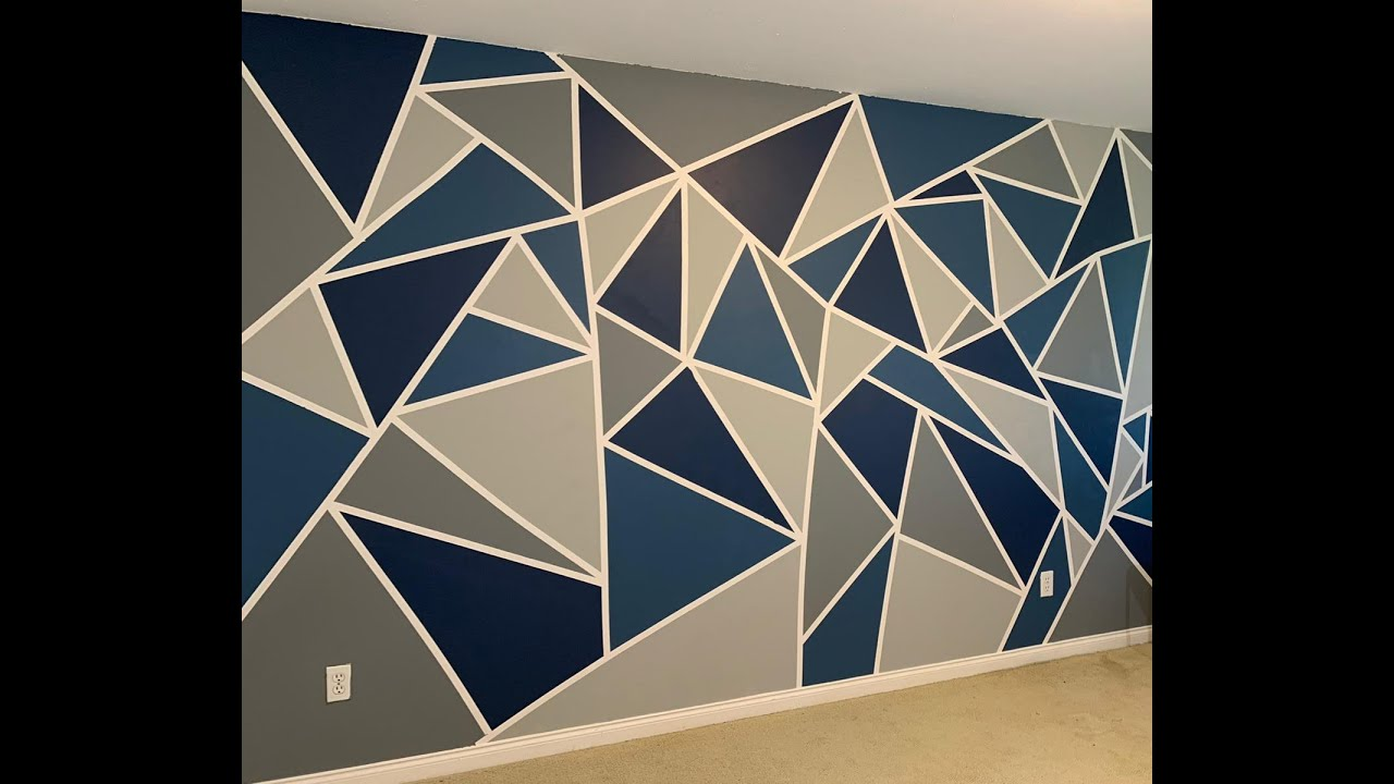 Quarantine Project Diy Abstract Wall Painting Youtube