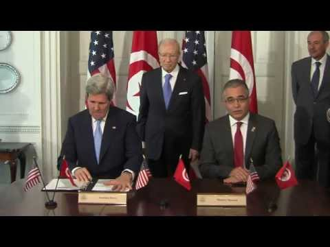 Secretary Kerry Delivers Remarks With Tunisian Minister for Political Affairs Marzouk