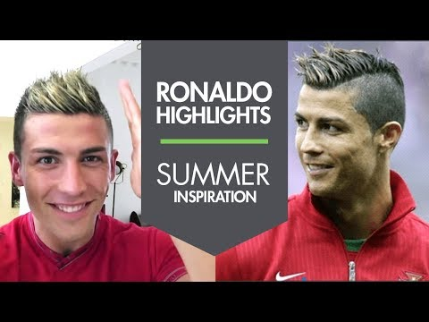 Cristiano Ronaldo new summer haircut with Highlights 2013 – Slikhaar Studio