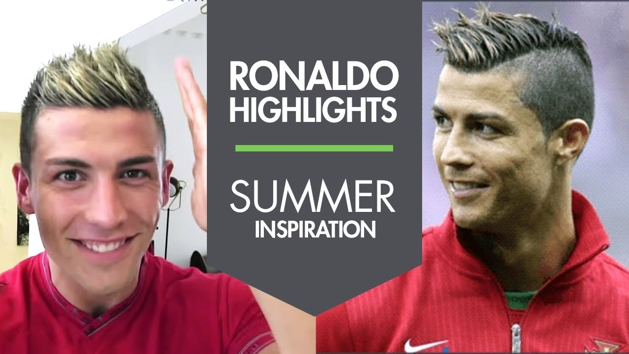 Cristiano Ronaldo New Summer Haircut With Highlights 2013 Slikhaar Studio
