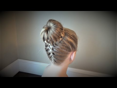 Причёска Корзинка с Французской Косой.Hairstyles.Tutorial.