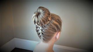 Плетение косичек.Причёска Корзинка с Французской Косой.Hairstyles.Tutorial.(Замечательная причёска! Всё очень просто! Но в то же время очень элегантно!!!, 2017-01-21T05:27:45.000Z)