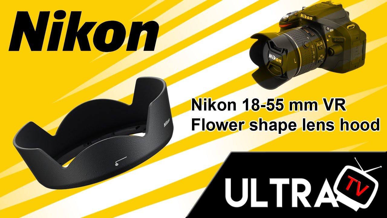 Parasol lens Hood compatible con Nikon Nikkor 18-55mm AF-S DX similar a hb33