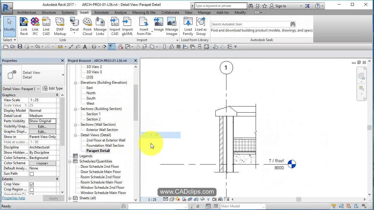 REVIT ARCHITECTURAL PROJECT 36 WALL SECTIONS AND CALLOUT VIEWS