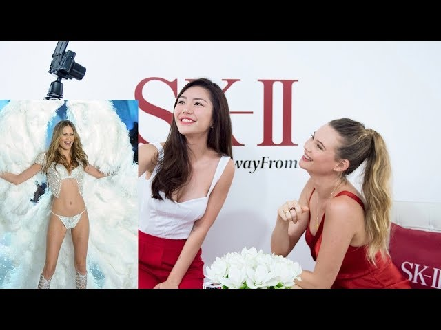 My FIRST TIME interviewing a CELEBRITY ! - Behati Prinsloo