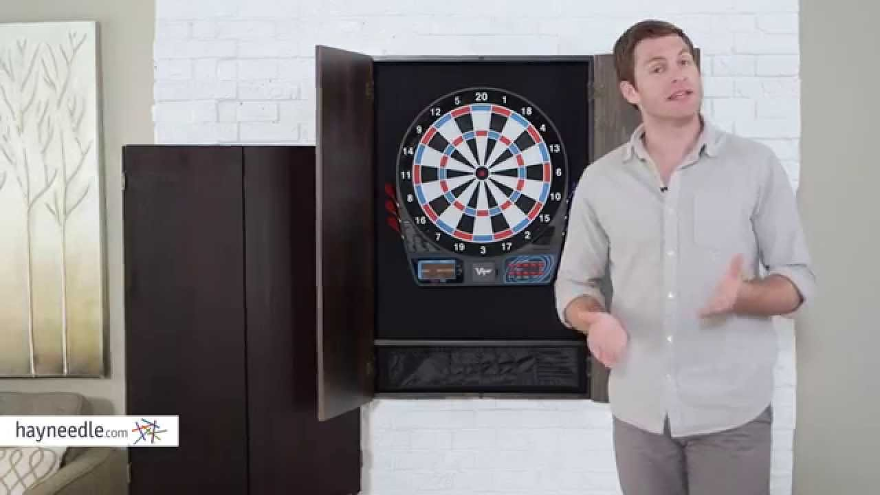 Ordinaire Metropolitan Dart Board Solid Wood Cabinet For Electronic Dart Boards    Product Review Video