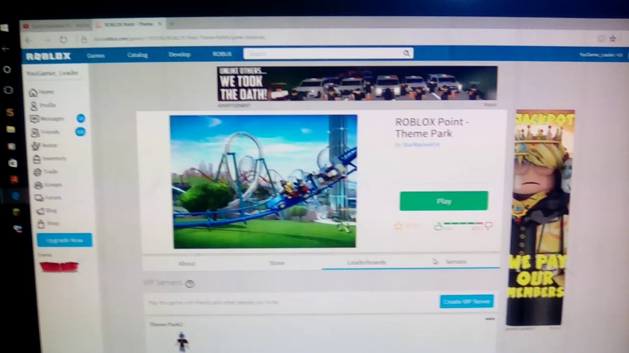 VIP server for ROBLOX Point -Theme Park!! Free VIP server!! Join if you  want!!