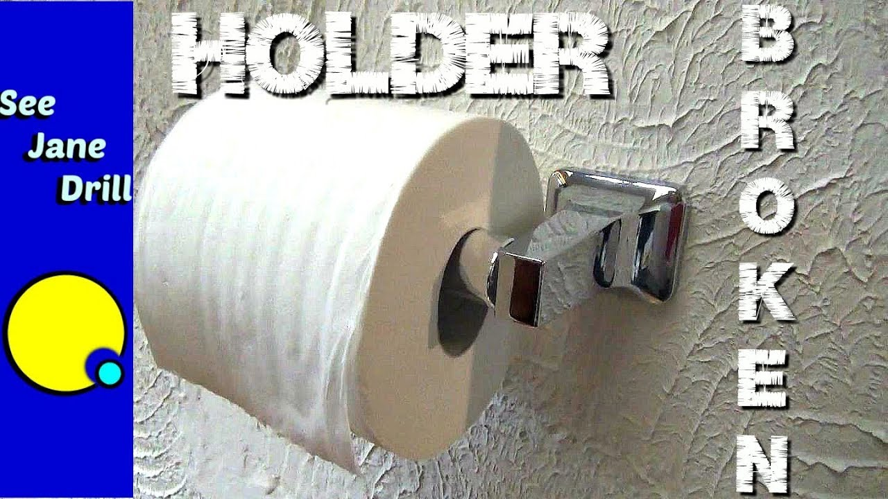 Is Your Toilet Paper Holder Hanging On For Dear Life Youtube