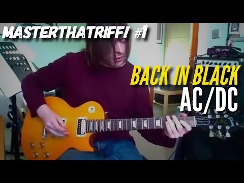 "Guitar guitar tabs back in black : Back In Black"" by AC/DC - Guitar Lesson w/TAB - MasterThatRiff! 1 ..."