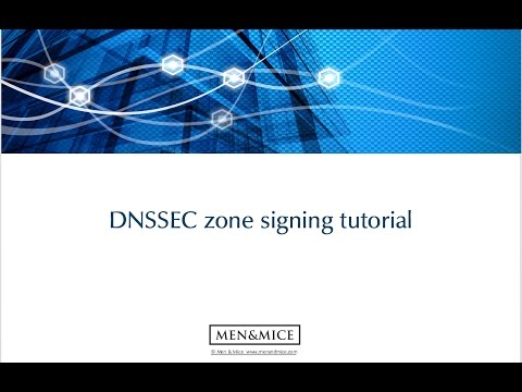 DNSSEC Zone Signing Tutorial