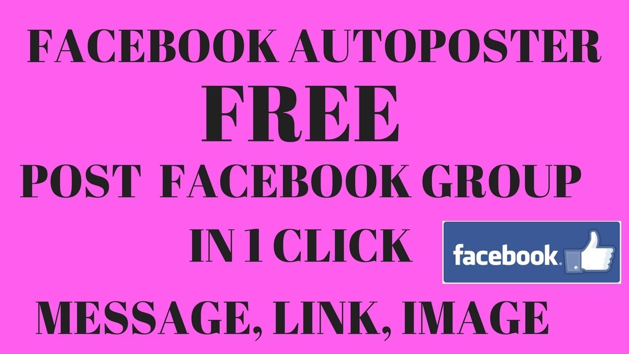 Send Facebook group messages In 1 Click I Best Free Facebook Auto poster I Best Group Autoposter