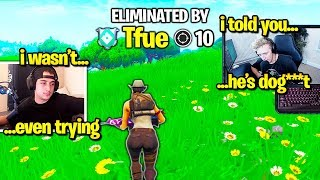 CLOAK *STREAM SNIPES* TFUE then GETS DESTROYED! (Fortnite)