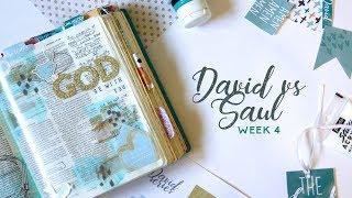 DAVID SERIES: David vs Saul Bible journaling + FREE PRINTABLE