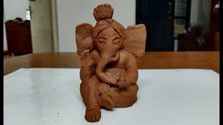 Make your own Ganesha with Natural Clay \ DIY Eco-Friendly Ganesha Idol