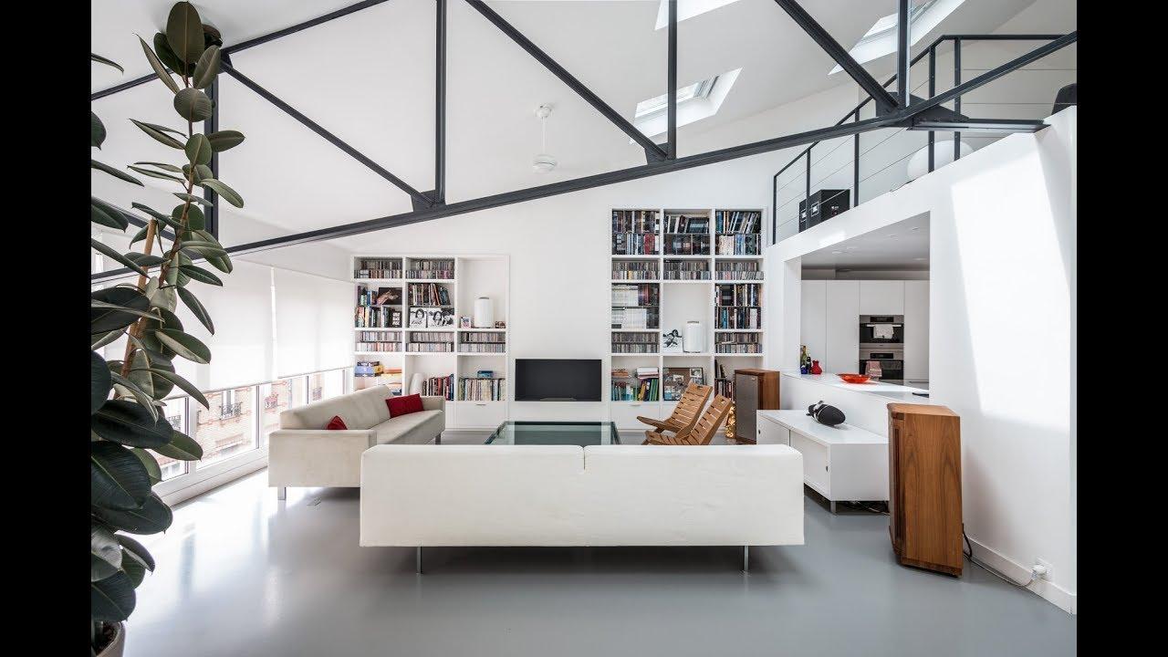 loft esprit maison dans une ancienne usine espaces atypiques youtube. Black Bedroom Furniture Sets. Home Design Ideas