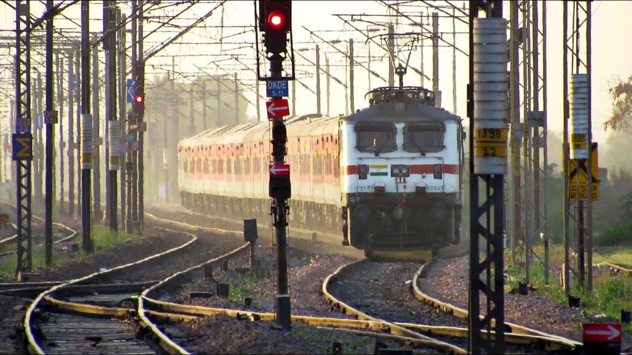 GARIB RATH leading RAJDHANI GANG || High Speed Trains Compilation !!