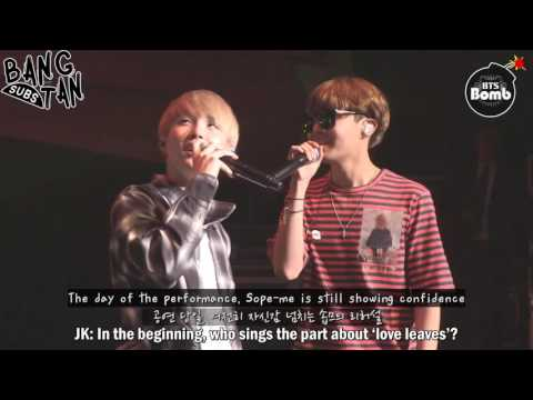 [ENG] 160920 [BANGTAN BOMB] BTS' Vocal Duet 'SOPE-ME' Stage behind the scene