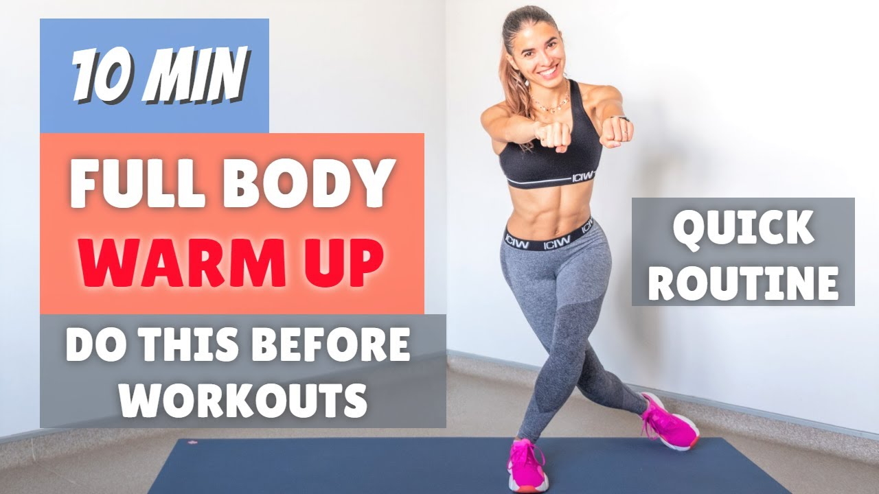 10 min WARM UP - Do this BEFORE WORKOUTS | The Fashion Jogger