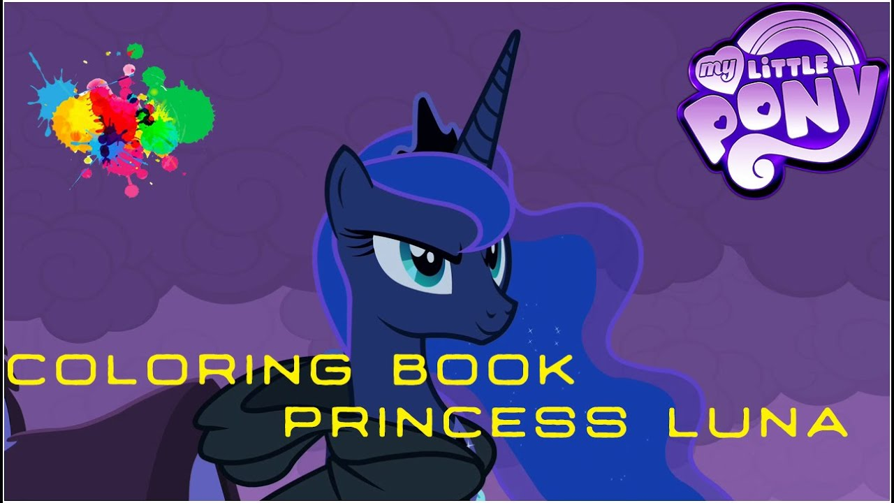 my little pony coloring book mlp princess luna angel of darkness
