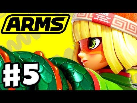 ARMS - Gameplay Walkthrough Part 5 - Min Min Ranked Matches! (Nintendo Switch)