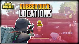 10 Fortnite Rubber Duckies Locations!