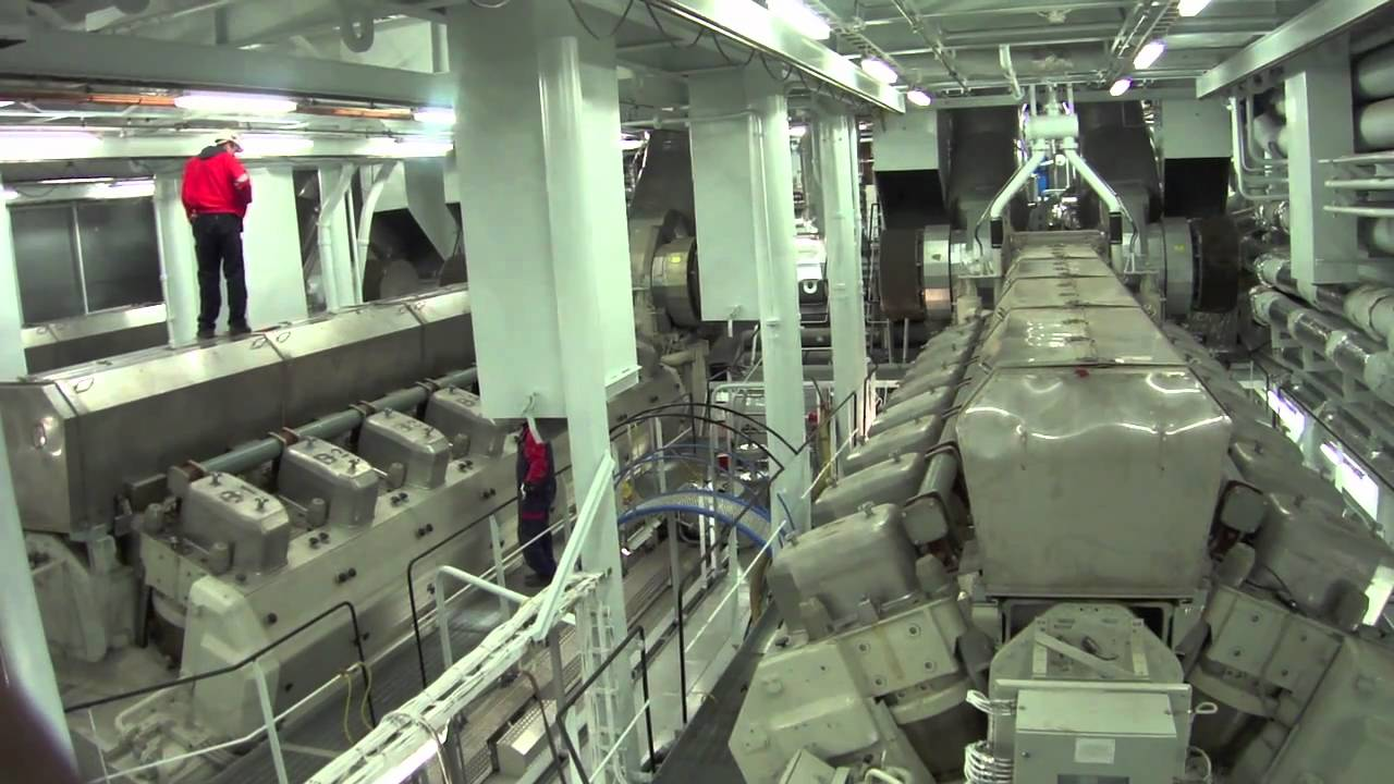 Allure of the Seas Engine Room HQ - YouTube