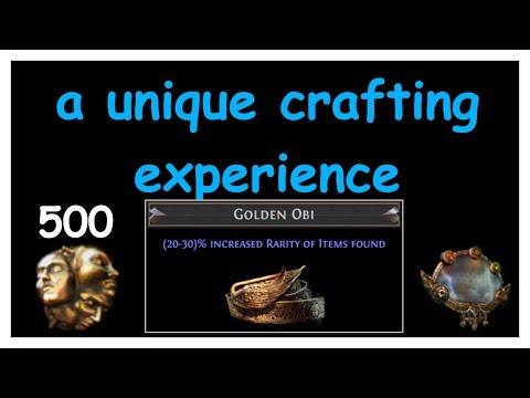 A Unique Crafting Experience: Fireball's Golden Obi MF Belt VS 500 Ex (BEST ANNUL STREAK) | Demi