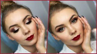 Makijaż FULL GLAM na ŚWIĘTA tanimi kosmetykami! ⛄️ | Lastdream