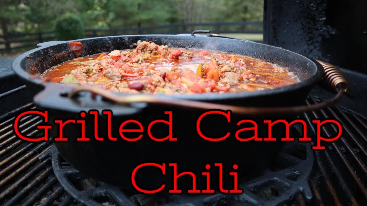 Grilled Chili In The Dutch Oven The Best We Ve Ever Had Youtube