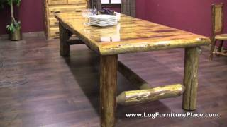Cedar Lake Lodge Log Dining Table
