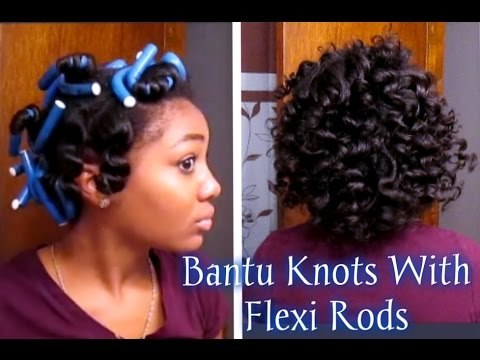flexi rod natural hair styles get the bantu knots hairstyle using flexi rods 5290 | hqdefault