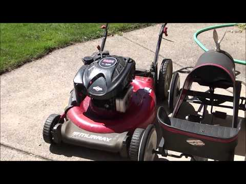 HOW TO FIX a Murray Lawnmower that STARTS BUT WILL NOT RUN … SMOKES – plugged Air Filter!