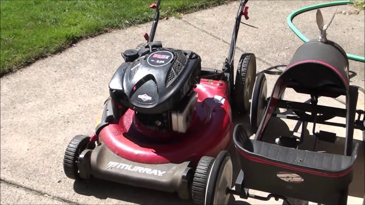 How To Fix A Murray Lawnmower That Starts But Will Not Run Smokes Plugged Air Filter