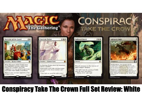 MTG Conspiracy Take The Crown Full Set Review: White! Magic the Gathering!