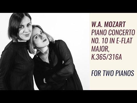 W. A. Mozart – Piano Concerto No.10 in E-flat major, K.365/316a (for two pianos)