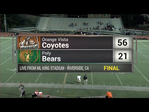 High School Football - Riverside Poly vs Orange Vista