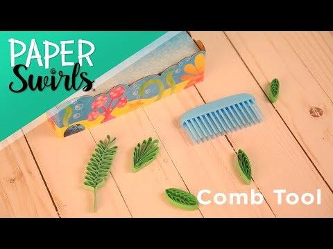 ALEX DIY PAPER SWIRLS Comb Tool