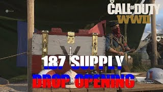 187 Supply Drop Opening - WWII Multiplayer Call of Duty Resistance DLC Epic Weapons