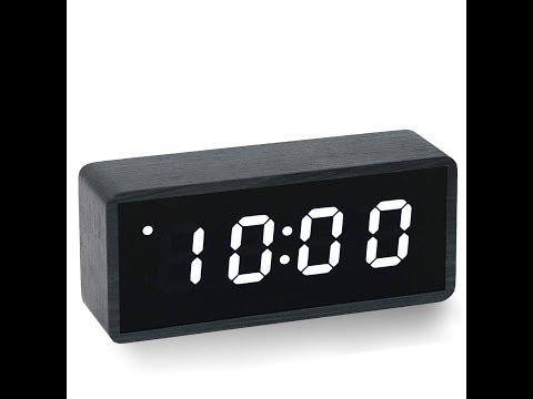 1296 Digital Wooden Alarm Clock Setting Instruction