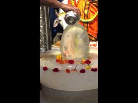 Crystal Shiva Lingam Abhishekam
