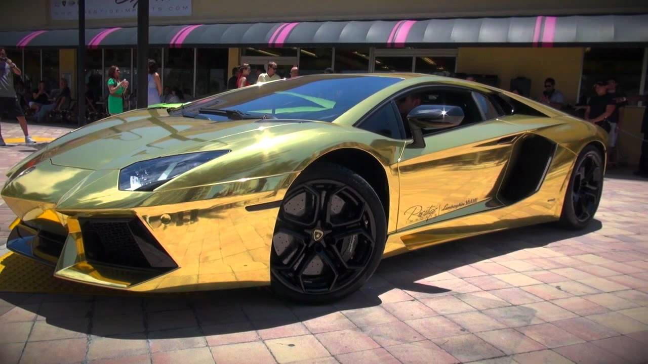 Worlds First Gold Plated Lamborghini Aventador Lp700 4 Unveiled